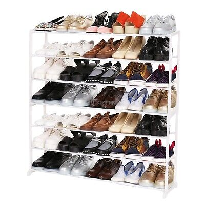 10 Tier Hot 50 Pair Space Saving Shoe Tower Rack Storage Organizer Space Saver