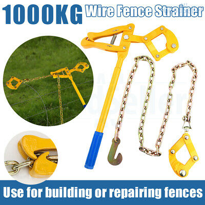 Heavy Duty Wire Fence Strainer Plain & Barbed Chain Fencing Repair Tool Gripple