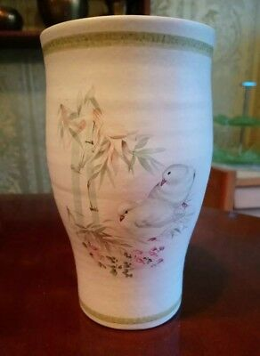 CINQUE PORTS POTTERY from 'THE Monastery, RYE' HAND PAINTED VASE