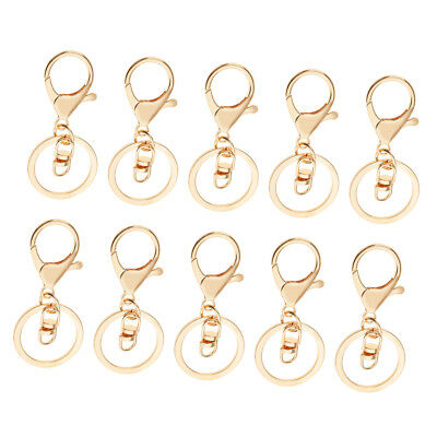 10 Pcs Gold Swivel Trigger Lobster Clasp Snap Hook Keyring Findings w/8 Type