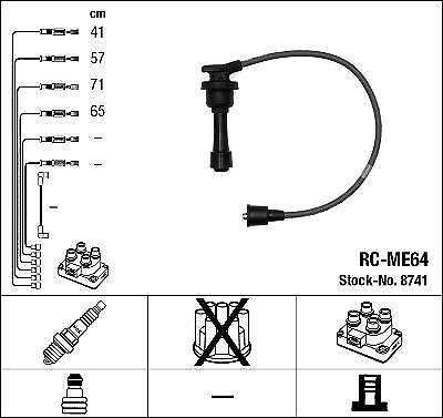 Ignition Ht Lead Set Ngk Rc-Me64              8741