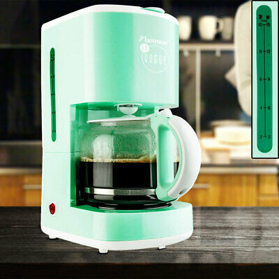 Coffee machine 15 cups keep warm filter brew automat glass jug mint green new