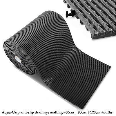 Anti-Slip Matting Flooring Mats Pool Drainage Hygiene Mat Safety Rubber Floor