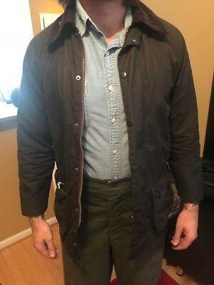 Barbour Jacket Military Style Waxed