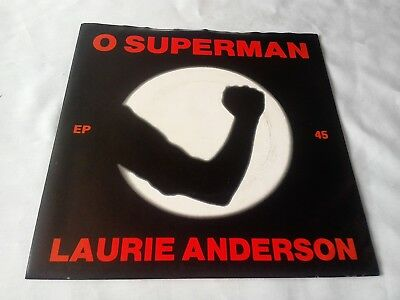 LAURIE ANDERSON O Superman Near Mint 7
