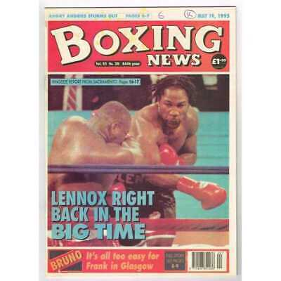 Boxing News Magazine May 19 1995 Mbox3100/C  Vol 51 No.20  Lennox right back in