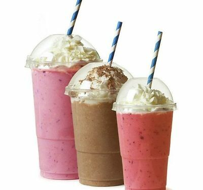 Smoothie Cups and Lids (10oz,12oz ,16oz,20oz)Clear Plastic Domed Lid-Disposable