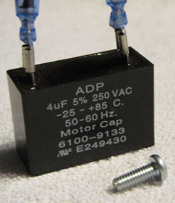 Drucker centrifuge 642e capacitor E249430 4uF w/mounting screw 6100-9133