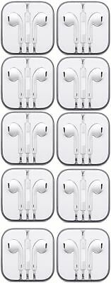 Lot of 10 Earbuds Earphone Headset With Mic Apple iPhone 5 iPhone 6/6s iPod