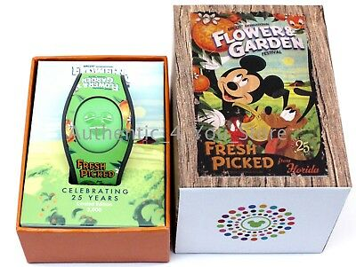 Disney Parks EPCOT Magic Band 2018 Flower & Garden Festival - Mickey Orange Bird