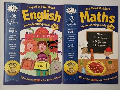 Leap ahead Maths and English  KS2 Ages 10-11 (2 set books)