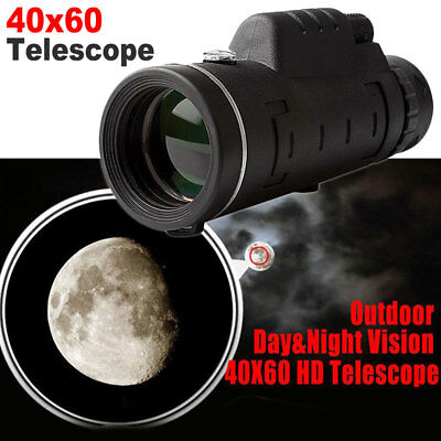 40X60 HD Zoom Monocular Night Vision Telescope + Clip + Tripod For Mobile Phone