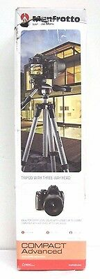 Manfrotto Compact Advanced Aluminum Tripod (Black) #102