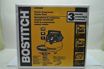 BOSTITCH BTFP3KIT 3-Tool And Compressor Combo Kit NEW FREE SHIPPING
