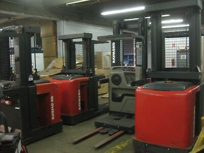 6 WHOLESALE DEAL - SIX (6) RAYMOND ELECTRIC 'Narrow-Aisle' OrderPicker FORKLIFTS