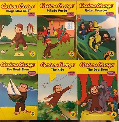 Curious George Beginner Reading Series 6 Book Lot