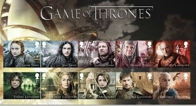 """Game of Thrones Stamp Set In Character Card, I Will Use A """"GOT"""" Stamp As Postage"""