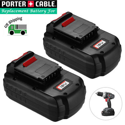 2 Pack 18V NiCd Replacement Battery for Porter Cable 18-Volt PC18B Cordless Tool