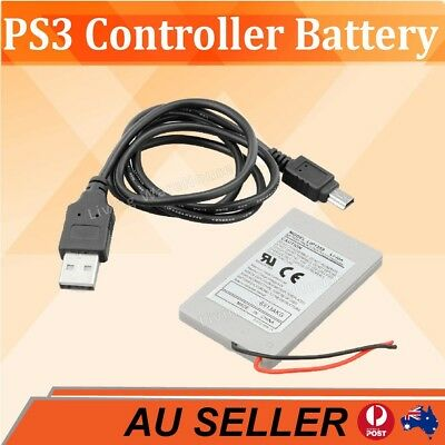 1800MAH Rechargeable Battery Pack + Cable For Sony PS3 Playstation 3 Controller
