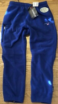 NWT VTG Polo Ralph Lauren Sport Polartec Fleece Sweat pants L mens flag spellout