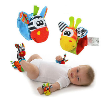 UK STOCK Baby Rattle Set /Baby Sensory Toys Foot-finder Socks/Wrist Rattles New