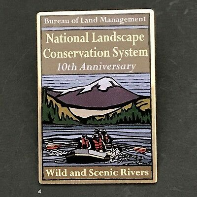 Bureau Of Land Management Lapel Pin Wild and Scenic Rivers Collectible Vintage