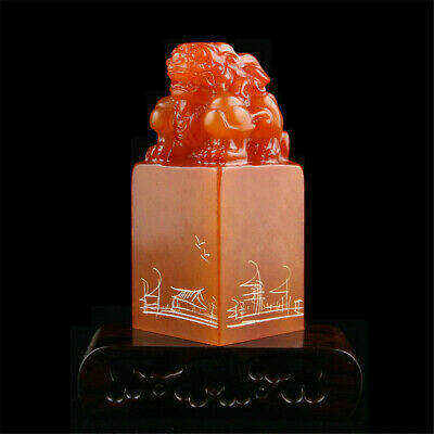 Personalized Chinese Traditional Carving Seal Sculpture Name DIY Stone Jade Gift