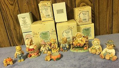 Cherished Teddies 9 Fall Halloween Themed Trick Or Treat Bear Figures