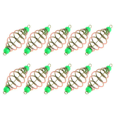 10 Pcs/Set Fishing Bait Spring Lure Inline Hanging Tackle Stainless Steel Feeder