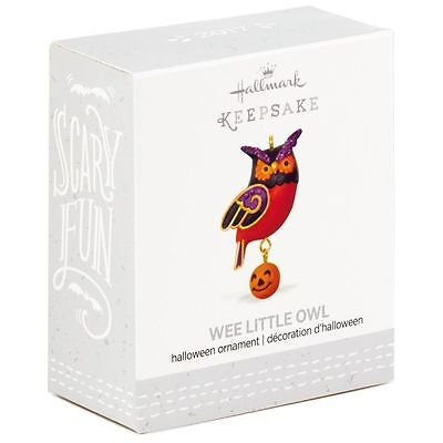 Wee Little Owl 2017 Hallmark MINI Halloween Ornament  Jack O'Lantern Pumpkin