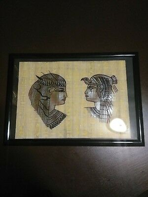 Framed Imported Ancient Egyptian Papyrus Paper