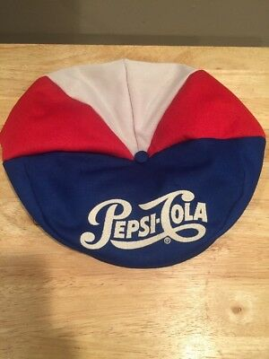 Vintage Pepsi Cola Red White Blue Snapback Newsboy Cabbie Gold Cap Hat