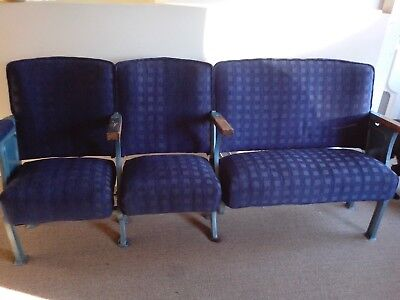 cinema seats mid 20 century cast iron row ends upholstered seats and backs
