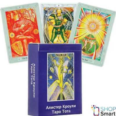 Aleister Crowley Thoth Tarot Standard Deck Cards Russian Edition Telling Agm New