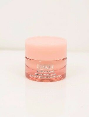 Clinique All About Eyes Reduces Puffs Circle Travel Size 0.21 oz/ 7 ml Brand New