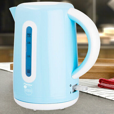 Water heater cooker 1.7 liter light blue 360 ° wireless 2200W dry protection new