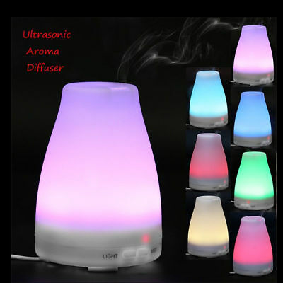 LED Ultrasonic Mist Humidifier Aroma Essential Oil Diffuser For Home Bedroom