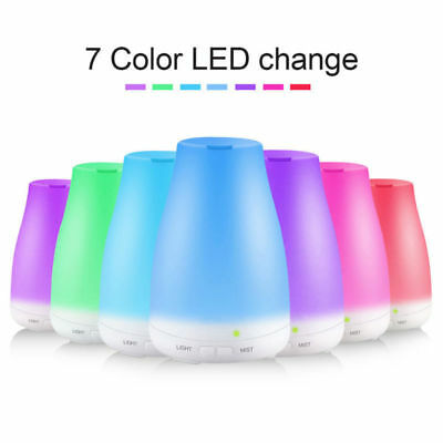 LED Aroma Humidifier 100ML Ultrasonic Humidifier Air Diffuser Purifier Atomizer