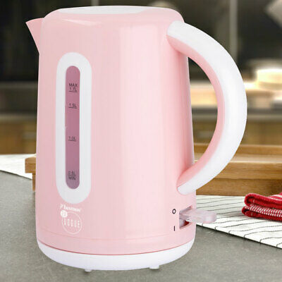 1.7l water heater tea cooker pink wirelessly 360 ° rotatable dry heel protection