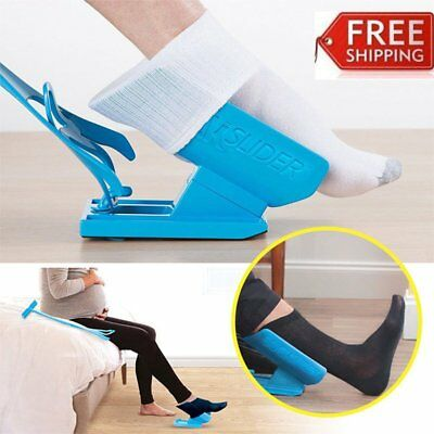 Sock Slider Easy on off Sock Aid Kit Shoe Horn Pain Free No Bending GF