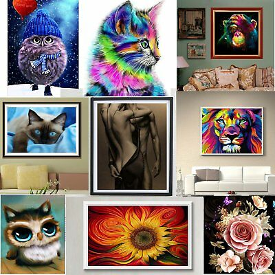 5D DIY Diamond Painting Flower Peacock Embroidery Cross Crafts Stitch OL