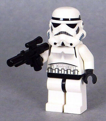 LEGO Star Wars - Imperial Stormtrooper Minifigure with Black Head, Blaster