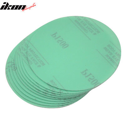 Disc 1500 Grit 5 PSA Green Auto Sanding Paper Sheets Repair Sand Velcro 10PC