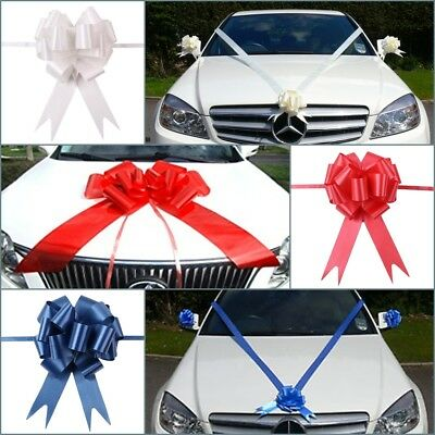 UK Pull Bows Ribbons Wedding Flower Car Decoration Birthday Wrap Gift Present