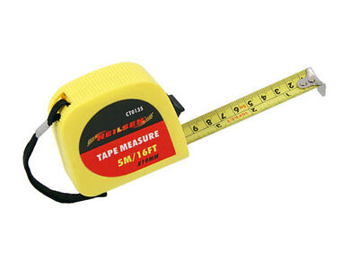Hi Visibility Dual Scale Tape Measure 5m/16ft with belt clip
