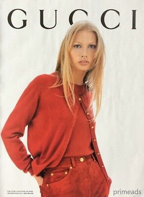 1994 GUCCI Women's Fashion Red Clothes Original PRINT AD