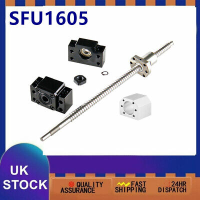 CNC Ballscrew SFU1605 C7 & BK/BF12 End Support & Ballnut Housing L250MM-1050MM
