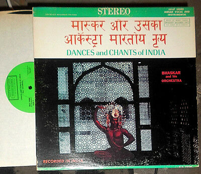 Bhaskar And His Orchestra Dances And Chants Of India Lp
