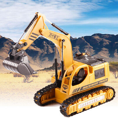 LED Light RC Excavator Remote Control Crawler Digger 5CH Machinery Truck Toy