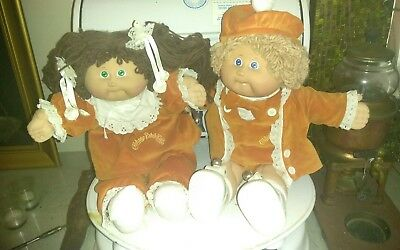 Pair of Vintage Cabbage Patch Dolls Rare Outfits. 1978